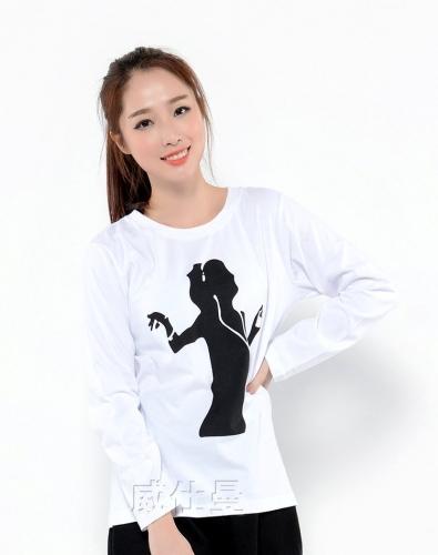 长袖t恤印logo