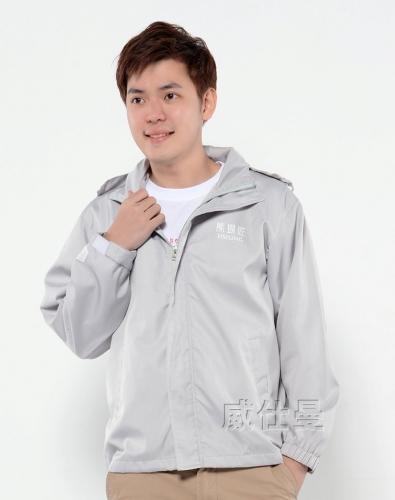 灰色薄款广告风衣