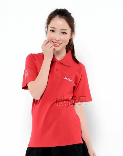 红色短袖polo衫