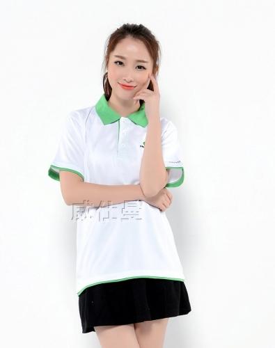 纯色翻领t恤